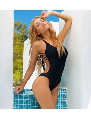 Sexy Back Beach Swimsuit One Piece Halter Bikini