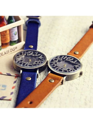 Retro Three-dimensional Scale Leather Watch