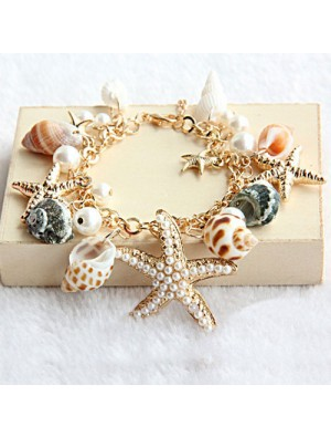 Conch Starfish Summer Beach Bracelet