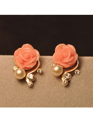 Fashion Rhinestone Bohemia Rose Earrings