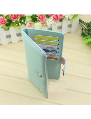 Elegant Pure Multifunction Crown Wallet Billfold