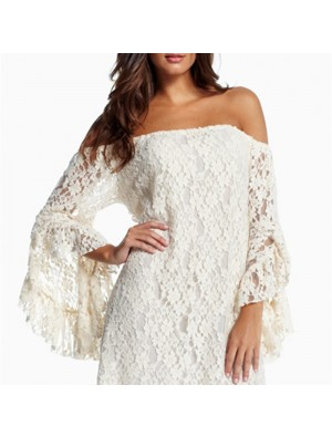 New Style Tassels Speaker Lace Tee Dress