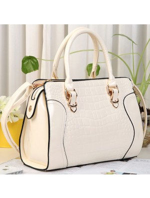 Fashion Elegant Croco Hardcover Handbag & Shoulder Bag