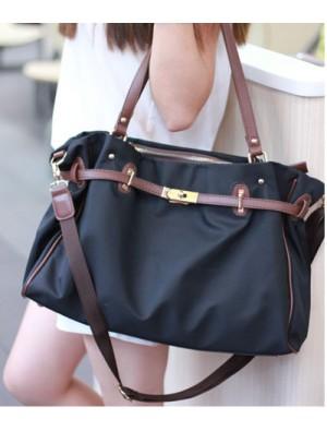 Fashion Navy Platinum  Canvas Handbag&Shoulder Bag