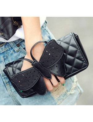 Fashion Black Butterfly clutch Bag&Shoulder Bag