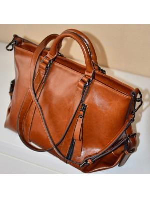 Fashion Glossy Commuter Handbag & Shoulder Bag
