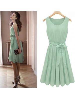 New Fashion Mint Green Bat Sleeve Dress