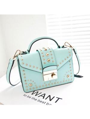 Fashion Rivet Mint Green Shoulder Bag&Messenger Bag