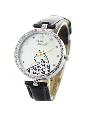 Cute Cheetah Pattern Full Rhinestone Quartz Watch