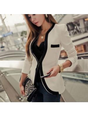 Slim False Pocket Long Sleeve Jacket Coat