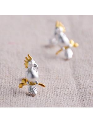 Parrot Stands 925 Silver Original Scrubs Earrings