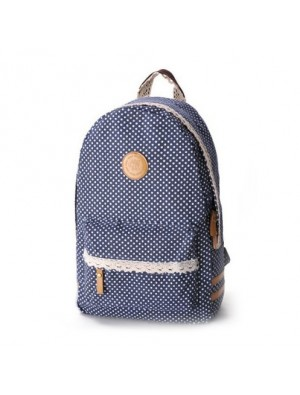 Fresh Sweet Lace Dot Print Backpack
