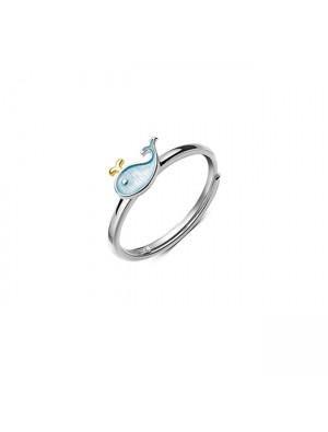 Lovely Little Whale Dolphin Fish Girl Animal Open Ring