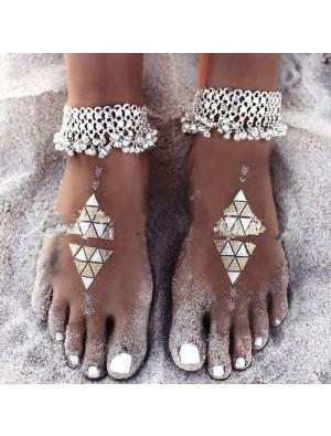 Bohemia Foot Jewelry Chain Folk Bracelet Tassels Bell Anklet