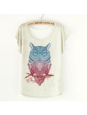 Cute Owl Animal Printed T-Shirt