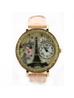 Romantic  Eiffel Tower Polymer Clay Watch