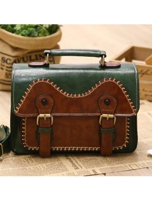 Vintage College Style Owl Messenger Bag Shoulder Bag
