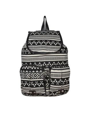 Vintage Owl Pattern Geometry Travel Backpack
