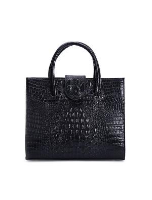 Elegant Crocodile Printed Leather Handbag &Shoulder Bag