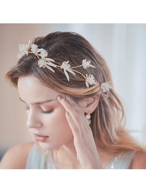 Fashion Unique Flower Branch Handmade Bridesmaid Hair Band Bride Hair Accessories
