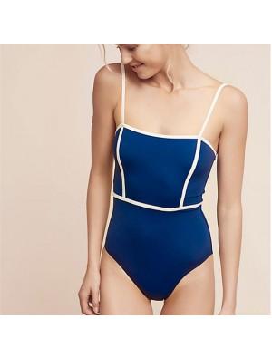Sexy Simple Sling One-piece Women High Waist Bikinis Swimsuit