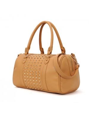 Retro Rivet Bucket Handbag& Shoulder Bag