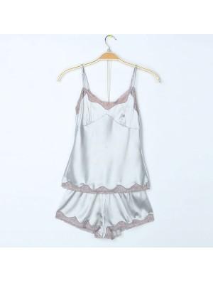 Sexy Silk Lace straps Sleeveless Pajamas