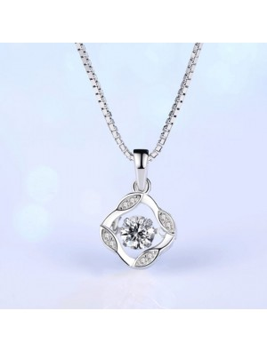 Fashion Silver Clavicle Screw Pendant Women's Necklace