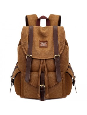Retro Camping Bag Multi-function Hiking Travel School Rucksack Large Thick Canvas Backpacks