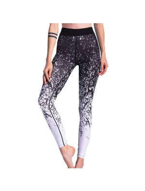 Unique Gigi's Sports Leggings Jean Irregular Gradually Change Lines Printing Yoga Skinny Legging