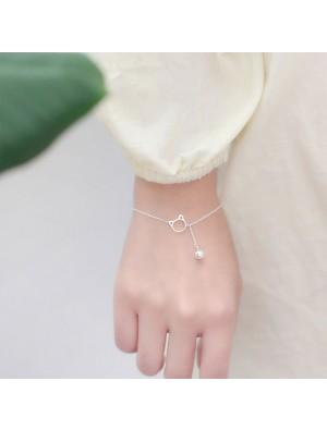 Cute Kitten Head Bell Silver Bracelet Lover Gift Accessories Cat Tassel Women Bracelet