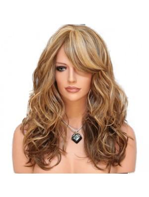 Fashion Curls Gradient Brown Big Wave Women Hair Wig