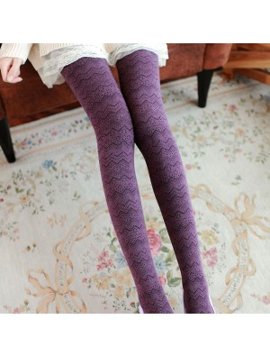 Wave Pattern Cotton Pantyhose/Socks/Stockings