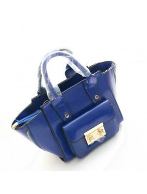 Fashion Minimalist Side Zipper Smiley Handbags
