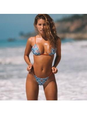 Sexy Sling Double-Sided Floral Swimwear New Women's Bandage Bikinis