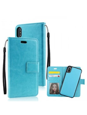 Fashion Iphonex Crazy Horse Pattern Multi-function Flip Wallet Mobile Phone Leather Case