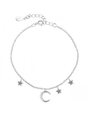 Cute Moon Star Silver Bracelet Friend Gift Accessories Women Bracelet