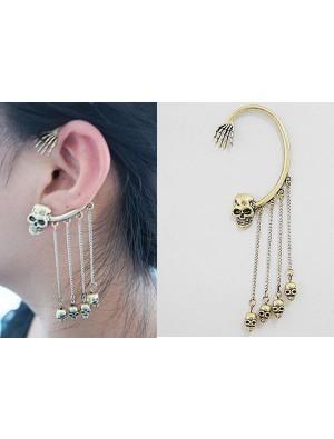 Unique Skull Tassel Earrings&Ear Clip