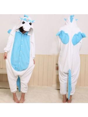 Flannel Cartoon Unicorn Animal Piece Pajamas