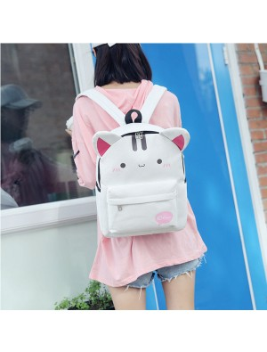 Lovely Shame Cat Rabbit Ear Cartoon Junior School Rucksack Student Bag Backpack