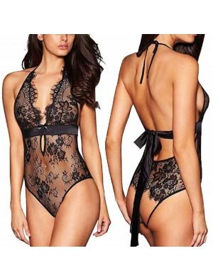 Sexy Flower Lace Conjoined Underwear Intimate Sling Women Lingerie