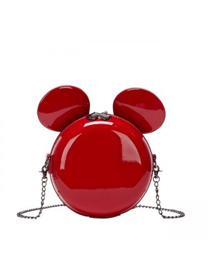 Cute Mickey Mouse Ear Cartoon Small Round Shoulder Bag