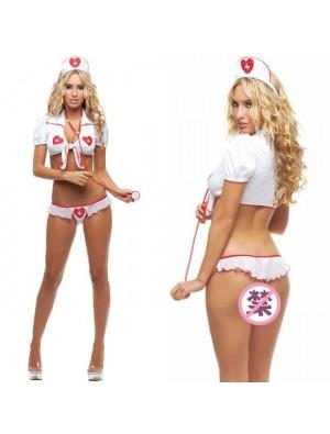 Sexy White Nurse Uniform Temptation Cosplay Women Nurse Intimate Lingerie