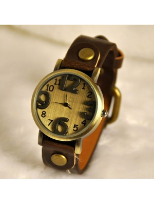 Retro Three Dimensional Dial Watch