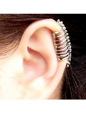 Punk Skull Spine Ear Bones Clip
