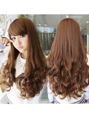 Side Bang/Full Bang Long Wavy Synthetic Hair Wigs