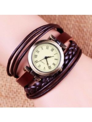 Gentiana Rope Weave Retro Bracelet Watch