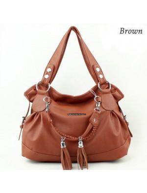 Fashion Elegant Weave Tassel Shoulder Bag