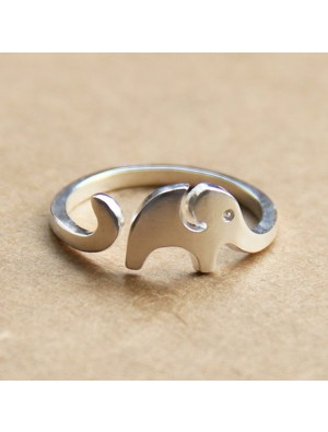 Hand Made Cute Little Elephant 925 Sterling Silver Opening Ring