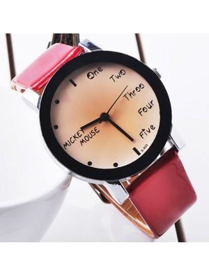 Fashion Cute Simple Black Border Watch